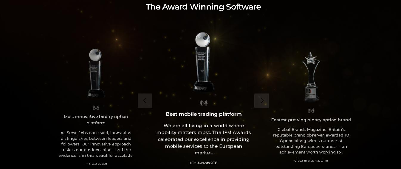 penghargaan atas aplikasi trading terbaik