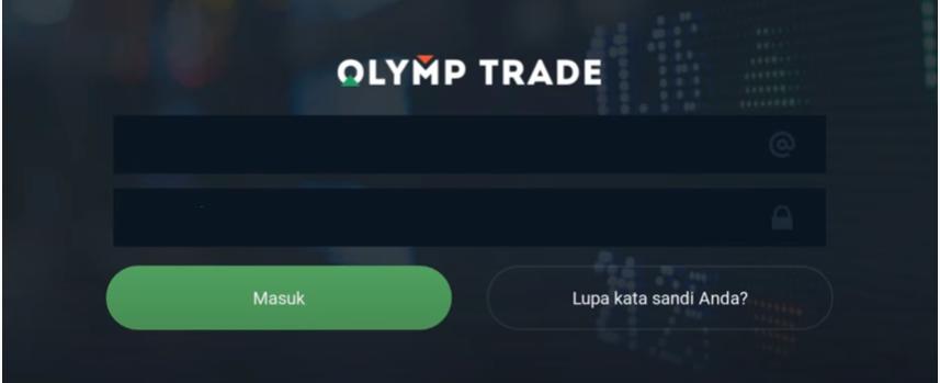 Buka akun Olymp Trade Anda